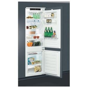Combina frigorifica incorporabila WHIRLPOOL ART 7811/A+, LessFrost, 273 l, H 177 cm, Clasa A+, 6th Sense, inox