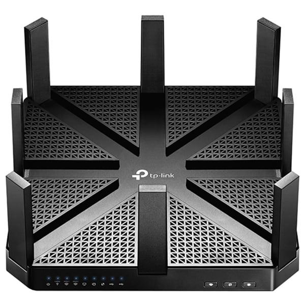 Router Wireless Gigabit TP-LINK Archer C5400, Tri-Band 1000 + 2167 + 2167 Mbps, USB 3.0, negru