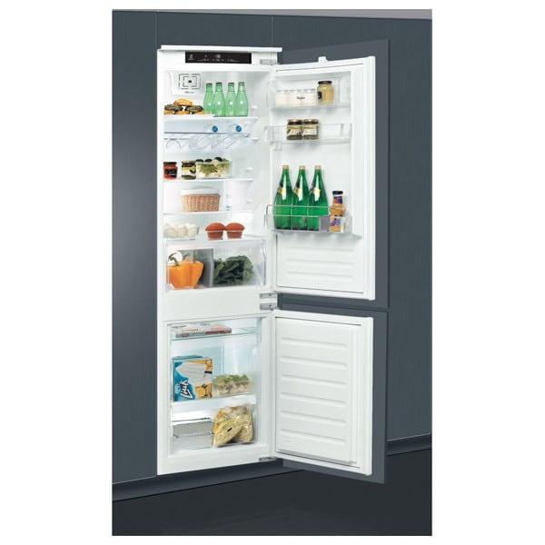 Combina frigorifica incorporabila WHIRLPOOL ART 7811/A+, LessFrost, 273 l, H 177 cm, Clasa F, 6th Sense, inox
