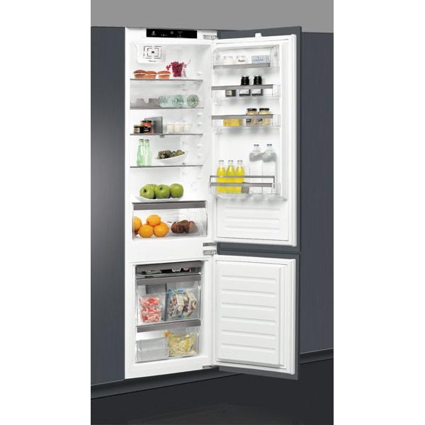 Combina frigorifica incorporabila WHIRLPOOL ART 9810/A+, LessFrost, 306 l, H 193.5 cm, Clasa F, 6th Sense, inox