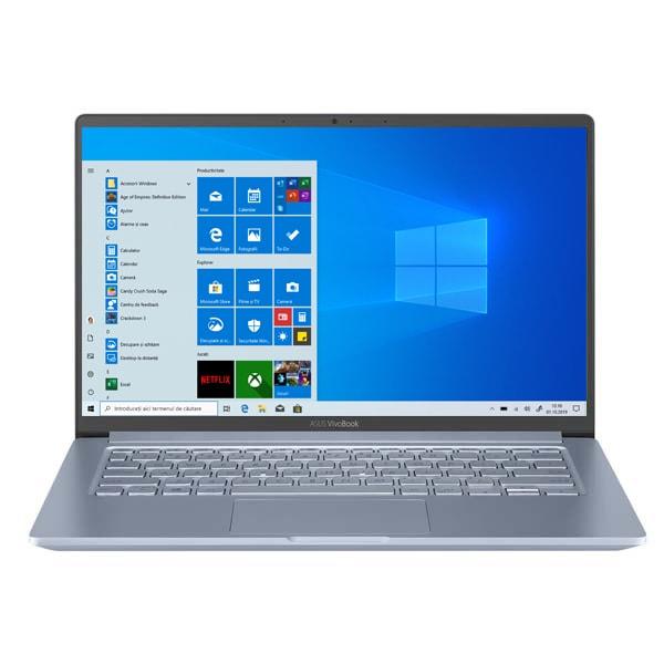 "Laptop ASUS VivoBook 14 X403JA-BM004T, Intel Core i5-1035G1 pana la 3.6GHz, 14"" Full HD, 8GB, SSD 256GB, Intel UHD Graphics, Windows 10 Home, Silver Blue"