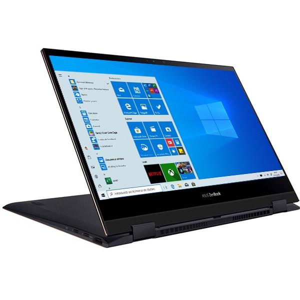 "Laptop 2 in 1 ASUS ZenBook Flip 13 UX371EA-HL003R, Intel Core i7-1165G7 pana la 4.7GHz, 13.3"" 4K UHD Touch OLED, 16GB, SSD 1TB, Intel Iris Xe, Windows 10 Pro, Jade Black"