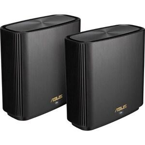 Sistem Wireless Mesh Gigabit ASUS ZenWiFi AX XT8, Tri-Band 574 + 1201 + 4804 Mpbs, 2 Buc, negru