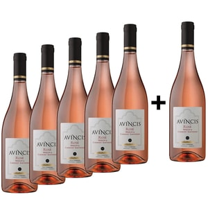 Vin rose sec Avincis Rose, 0.75L, 5+1 sticle