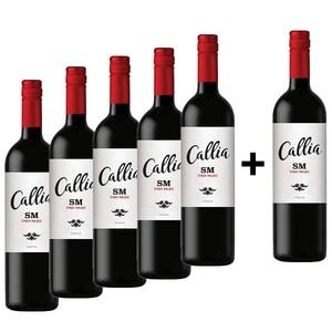 Vin rosu sec Callia Alta Shiraz - Malbec, 0.75L, 5+1 sticle