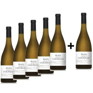 Vin alb sec Domaine de Coussan Chardonnay, 0.75L, 5+1 sticle