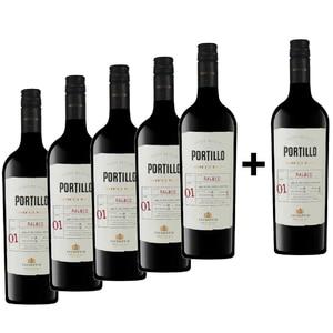 Vin rosu sec Salentein Portillo Malbec, 0.75L, 5+1 sticle