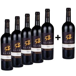 Vin rosu sec Alira Grand Vin Merlot, 0.75L, 5+1 sticle