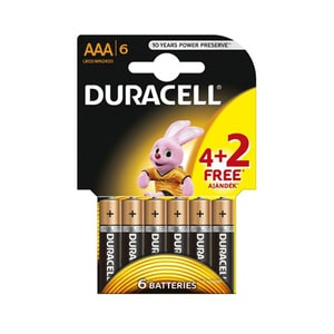 Baterii DURACELL Basic AAAK4+2 Duralock