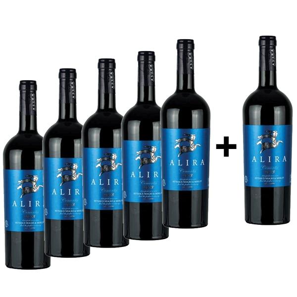 Vin rosu sec Alira Concordia, 0.75L, 5+1 sticle