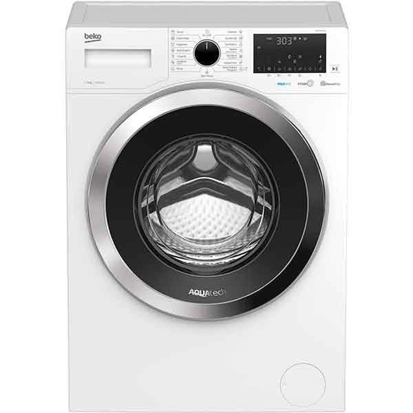 Masina de spalat rufe frontala BEKO WUE 8736 XN, HomeWhiz, AquaTech, 8 kg, 1400rpm, Clasa A, alb