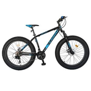 """Bicicleta Fat Bike CARPAT C2619B 26"""", Otel, negru-albastru"""