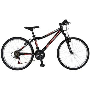 """Bicicleta de oras Mountain Bike-HT RICH R2652A, 26"""", cadru otel, negru-rosu"""