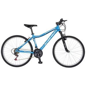 "Bicicleta de oras Mountain Bike-HT RICH R2652A, 26"", cadru otel, albastru-alb"