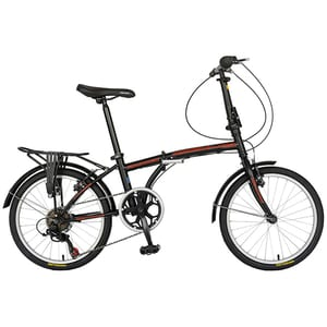 "Bicicleta pliabila VELORS V2054BNR, 20"", cadru otel, negru-rosu"