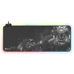 Mouse pad gaming NATEC Genesis Boron 500, iluminare RGB, marime XXL, gri-negru