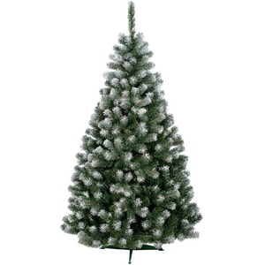 Brad artificial cu varfuri ninse BRAZIDELUX Carolina, 240 cm, verde-alb