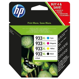 Pachet cu 4 cartuse de cerneala HP 932XL/933XL C2P42AE, negru/color