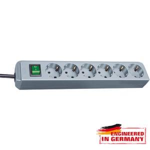 Prelungitor BRENNENSTUHL 149909, 6 prize Schuko, 1.5m, H05VV-F 3G1.5mm, intrerupator, gri