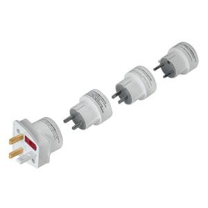 Set adaptoare de priza HAMA 44220 , EU/USA, alb