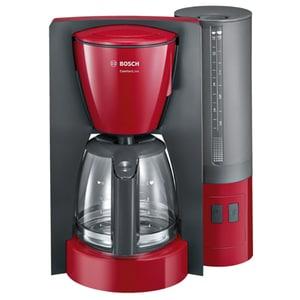 Cafetiera BOSCH ComfortLine TKA6A044, 1.25l, 1200W, rosu-gri inchis