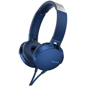Casti SONY MDR-XB550APL, Cu Fir, On-Ear, Microfon, albastru