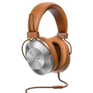 Casti PIONEER SE-MS5T-T, Cu Fir, On-Ear, Microfon, maro