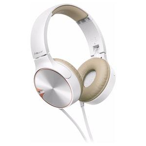 Casti PIONEER SE-MJ722T, Cu Fir, On-Ear, Microfon, alb-maro