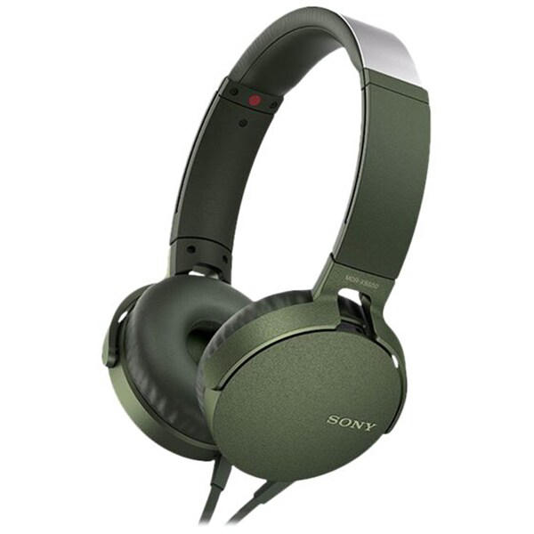 Casti SONY MDR-XB550APG, Cu Fir, On-Ear, Microfon, verde
