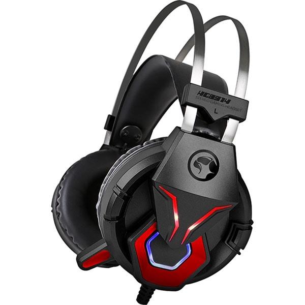 Casti Gaming MARVO HG8914, stereo, USB, 3.5mm, negru-rosu