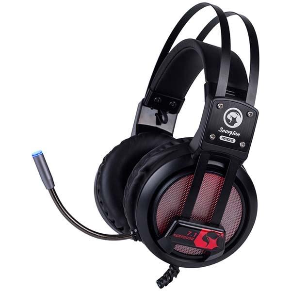 Casti Gaming MARVO HG9028, 7.1 surround, USB, negru-rosu