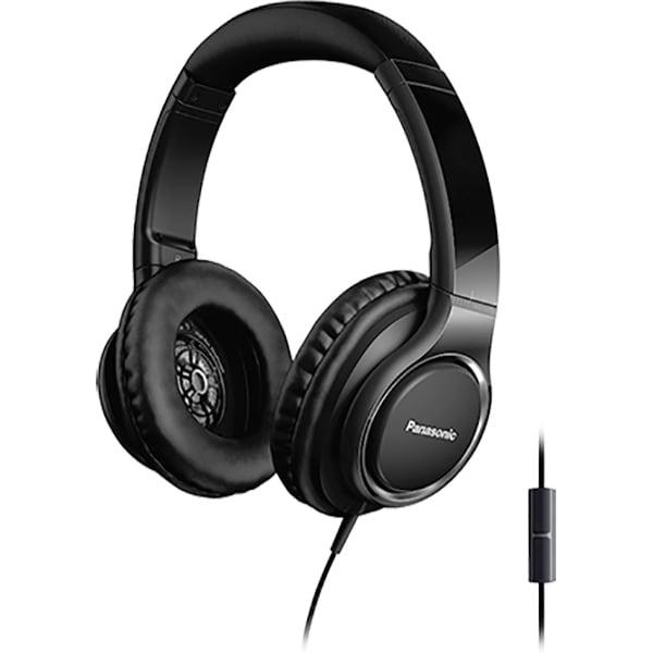 Casti PANASONIC RP-HD6ME-K, Cu Fir, On-Ear, Microfon, negru