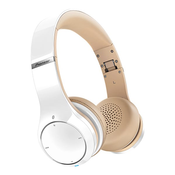 Casti PIONEER SE-MJ771BT-W, Bluetooth, NFC, On-Ear, Microfon, alb