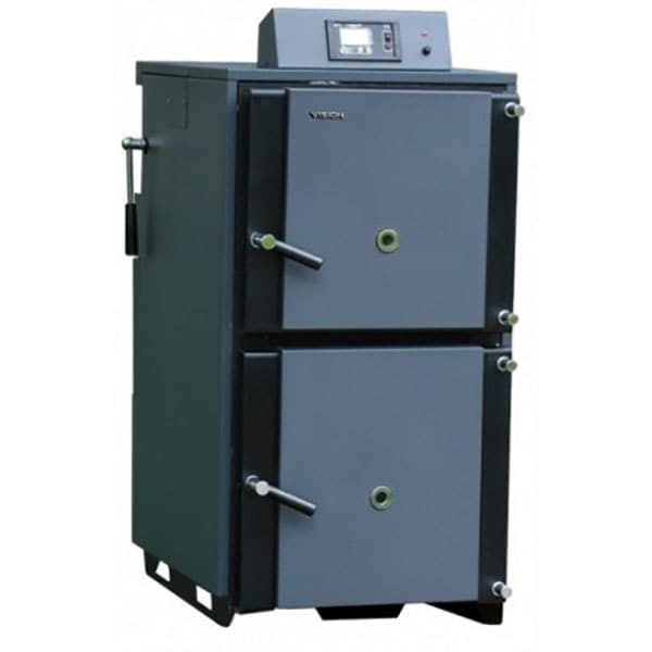 Cazan pe combustibil solid ROMSTAL Vision 34VS0030, 30 kW, gri inchis