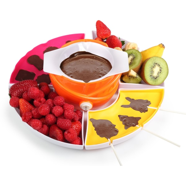 Fantana de ciocolata 3 in 1 TRISTAR CF-1604, 20W, alb - portocaliu