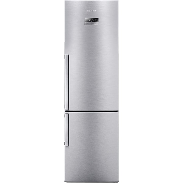 Combina frigorifica GRUNDIG GKN 16220 X, Duo-Cooling No Frost, 354 l, H 201 cm, Clasa A++, inox