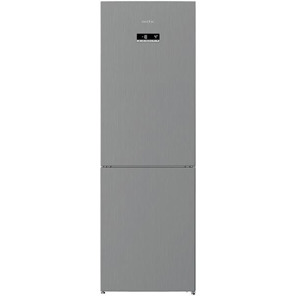 Combina frigorifica ARCTIC AK60366E40NFMT, Full No Frost, 324 l, H 185.2 cm, Clasa E, argintiu