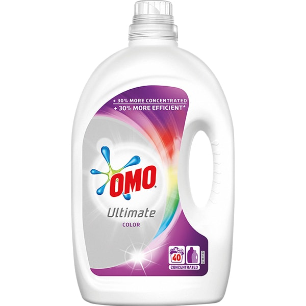 Detergent lichid OMO Ultimate Color, 2l, 40 spalari