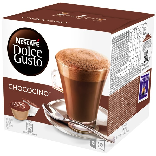 Capsule cafea NESCAFE Dolce Gusto Chococino, 8 capsule cafea + 8 capsule lapte, 256g