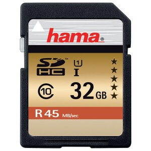 Card de memorie SD HC 32 GB HAMA 114943, R:45 MB/S