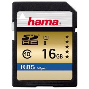 Card de memorie HAMA 114947, SDHC, 16GB, 85 MB/s, clasa 10 UHS-I