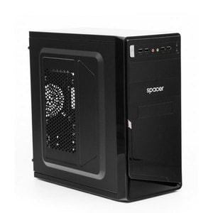 Carcasa SPACER Moon, USB 2.0, 450W, negru
