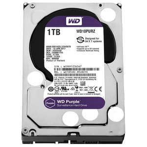 Hard Disk desktop WESTERN DIGITAL Purple, 1TB, Surveillance, SATA3, 64MB, WD10PURZ