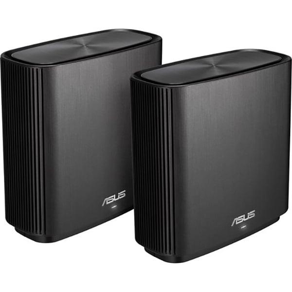 Sistem Wireless Mesh Gigabit ASUS ZenWiFi AC CT8, Tri-Band 400 + 867 + 1733 Mpbs, 2 Buc, negru