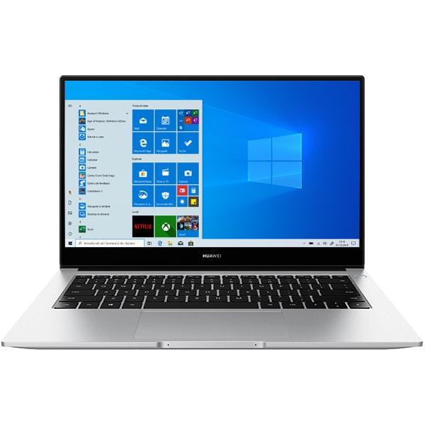 "Laptop HUAWEI MateBook D14, AMD Ryzen 5 3500U pana la 3.7GHz, 14"" Full HD, 8GB, SSD 512GB, AMD Radeon Vega 8 Graphics, Windows 10 Home, argintiu"