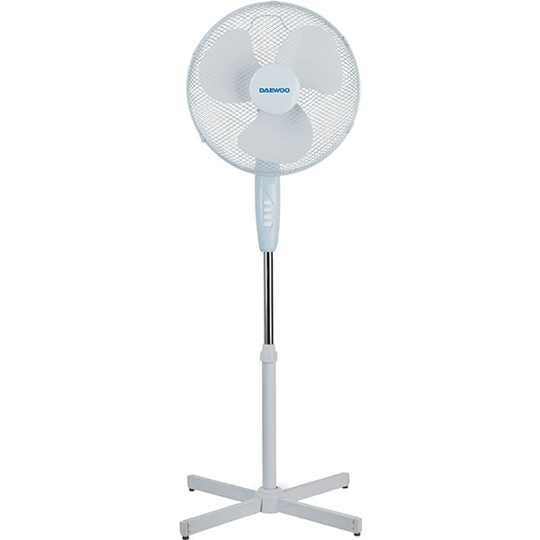 Ventilator cu picior DAEWOO DVS1699V, 3 trepte viteza, 40cm, 50W, alb