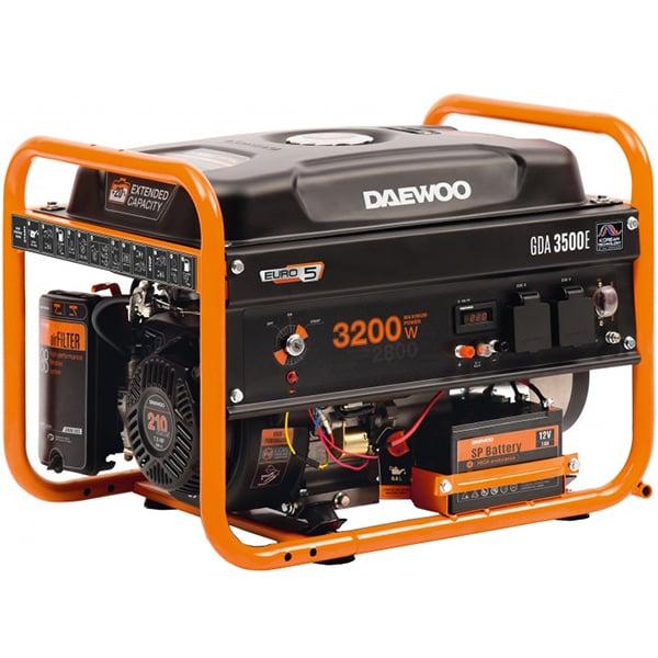 Generator electric DAEWOO GDK5000E, 5000W, 4 timpi, benzina, autonomie 20h