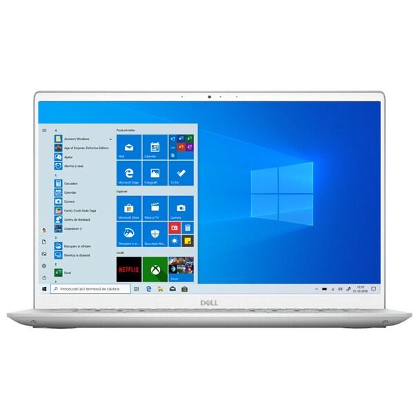 "Laptop DELL Inspiron 5405, AMD Ryzen 7 4700U pana la 4.1GHz, 14"" Full HD, 8GB, SSD 512GB, AMD Radeon Graphics, Windows 10 Home, argintiu"