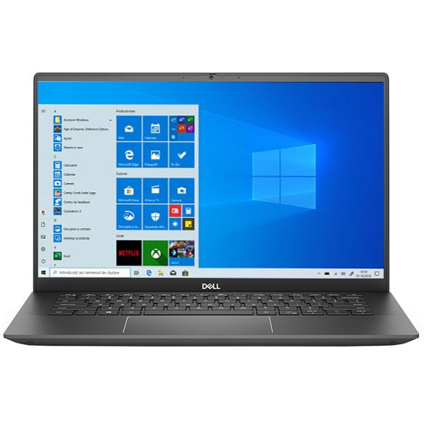 "Laptop DELL Vostro 5401, Intel Core i5-1035G1 pana la 3.6GHz, 14"" Full HD, 8GB, SSD 256GB, Intel UHD Graphics, Windows 10 Pro, gri"