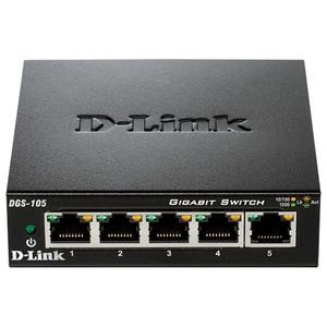 Switch D-LINK DGS-105, 5 porturi Gigabit, negru